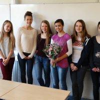 Sara Chardon uit V3D wint de publieksprijs bij de Junior Speaking Competition!