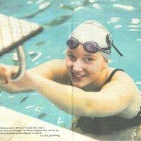 Zwemtalent Janina Beckers in het LD