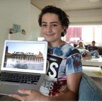 Onze leerling, Yoran uit Eha2b bouwt heel Nederland na in Minecraft